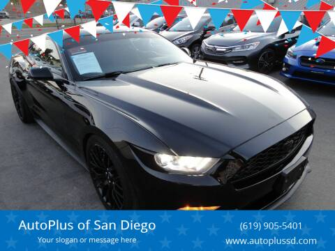 2016 Ford Mustang for sale at AutoPlus of San Diego in Spring Valley CA