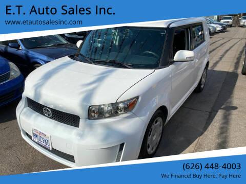 2010 Scion xB for sale at E.T. Auto Sales Inc. in El Monte CA