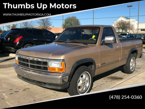 1992 Dodge Dakota for sale at Thumbs Up Motors in Warner Robins GA