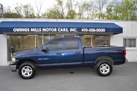 2004 Dodge Ram Pickup 1500 for sale at Owings Mills Motor Cars in Owings Mills MD