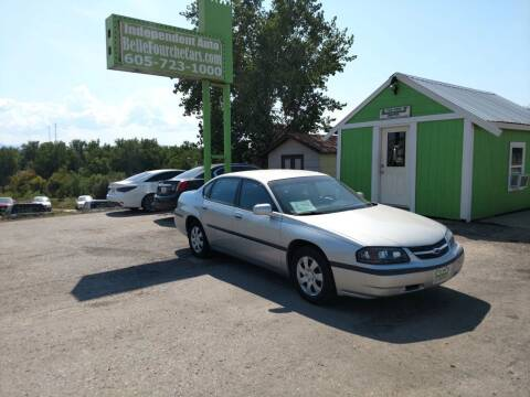 2003 Chevrolet Impala for sale at Independent Auto in Belle Fourche SD