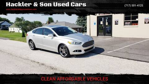 2016 Ford Fusion for sale at Hackler & Son Used Cars in Red Lion PA