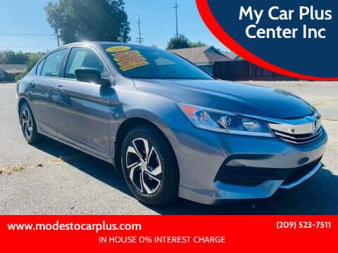 2017 Honda Accord for sale at My Car Plus Center Inc in Modesto CA