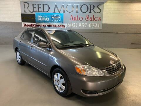 2008 Toyota Corolla for sale at REED MOTORS LLC in Phoenix AZ