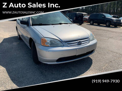 2003 Honda Civic for sale at Z Auto Sales Inc. in Rocky Mount NC