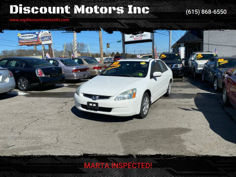 2005 Honda Accord for sale at Discount Motors Inc in Madison TN