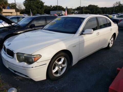 2003 BMW 7 Series for sale at Tony's Auto Sales in Jacksonville FL