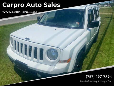 2014 Jeep Patriot for sale at Carpro Auto Sales in Chesapeake VA