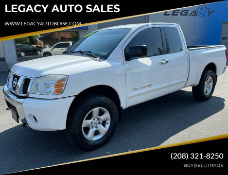 2006 Nissan Titan for sale at LEGACY AUTO SALES in Boise ID