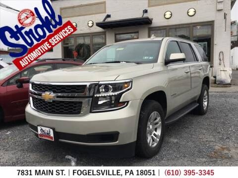 2015 Chevrolet Tahoe for sale at Strohl Automotive Services in Fogelsville PA
