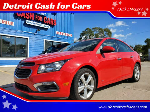 2015 Chevrolet Cruze for sale at Detroit Cash for Cars in Warren MI