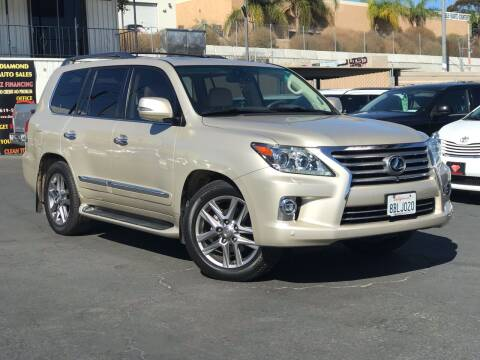 2015 Lexus LX 570 for sale at DIAMOND AUTO SALES in El Cajon CA