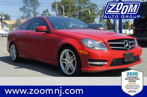 2015 Mercedes-Benz C-Class for sale at Zoom Auto Group in Parsippany NJ