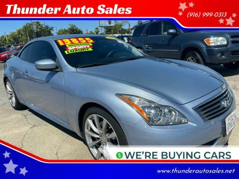 2010 Infiniti G37 Convertible for sale at Thunder Auto Sales in Sacramento CA