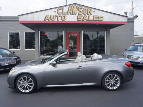 2010 Infiniti G37 Convertible for sale at Clawson Auto Sales in Clawson MI