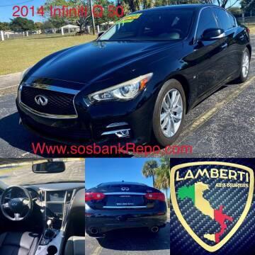 2014 Infiniti Q50 for sale at Lamberti Auto Collection in Plantation FL