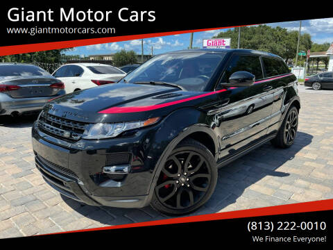 2015 Land Rover Range Rover Evoque Coupe for sale at Giant Motor Cars in Tampa FL