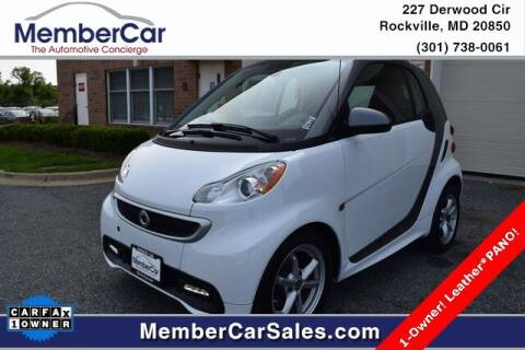 2015 Smart fortwo for sale at MemberCar in Rockville MD