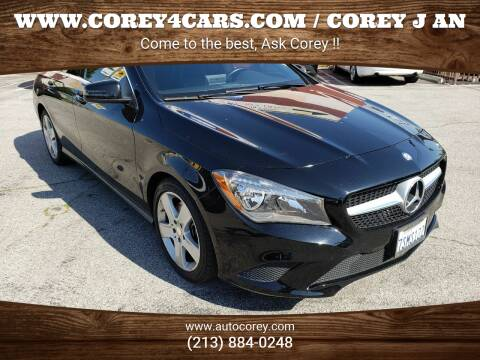 2016 Mercedes-Benz CLA for sale at WWW.COREY4CARS.COM / COREY J AN in Los Angeles CA