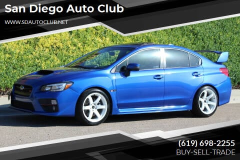2016 Subaru WRX for sale at San Diego Auto Club in Spring Valley CA