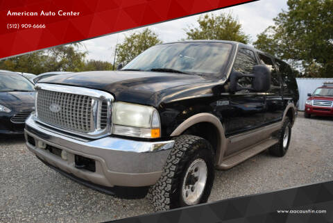2002 Ford Excursion for sale at American Auto Center in Austin TX