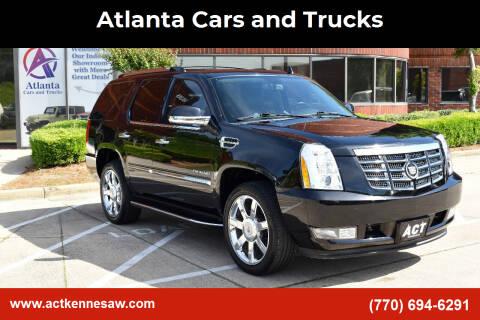 2013 Cadillac Escalade for sale at Atlanta Cars and Trucks in Kennesaw GA