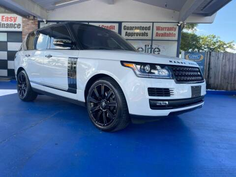 2016 Land Rover Range Rover for sale at ELITE AUTO WORLD in Fort Lauderdale FL