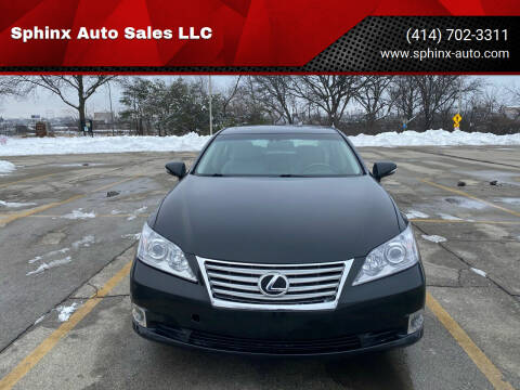 2010 Lexus ES 350 for sale at Sphinx Auto Sales LLC in Milwaukee WI
