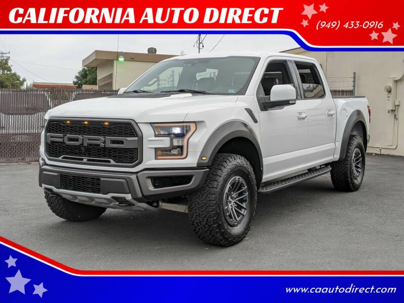 2019 Ford F-150 for sale at CALIFORNIA AUTO DIRECT in Costa Mesa CA