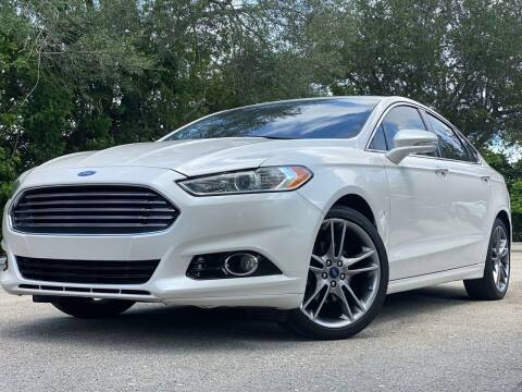 2015 Ford Fusion for sale at HIGH PERFORMANCE MOTORS in Hollywood FL