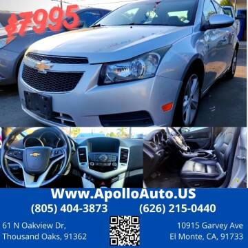 2014 Chevrolet Cruze for sale at Apollo Auto El Monte in El Monte CA