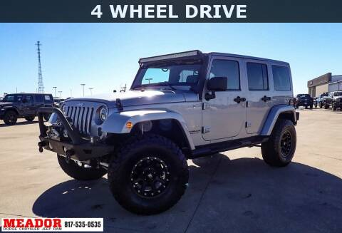 2013 Jeep Wrangler Unlimited for sale at Meador Dodge Chrysler Jeep RAM in Fort Worth TX