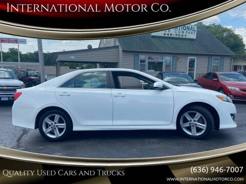 2013 Toyota Camry for sale at International Motor Co. in St. Charles MO