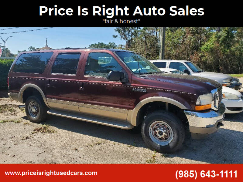 2000 Ford Excursion for sale at Price Is Right Auto Sales in Slidell LA