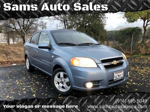 2007 Chevrolet Aveo for sale at Sams Auto Sales in North Highlands CA