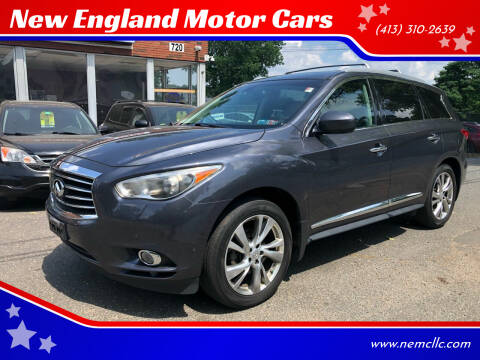 2013 Infiniti JX35 for sale at New England Motor Cars in Springfield MA