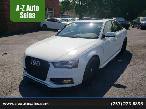 2014 Audi S4 for sale at A-Z Auto Sales in Newport News VA