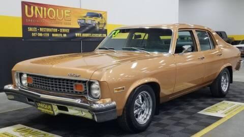 1973 Chevrolet Nova for sale at UNIQUE SPECIALTY & CLASSICS in Mankato MN