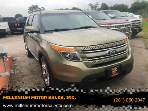 2013 Ford Explorer for sale at MILLENIUM MOTOR SALES, INC. in Rosenberg TX