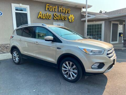 2017 Ford Escape for sale at Fort Hays Auto Sales in Hays KS