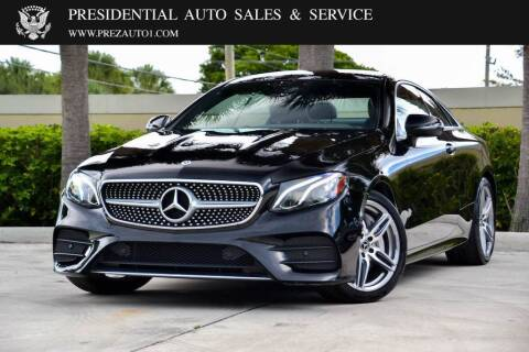 2018 Mercedes-Benz E-Class for sale at Presidential Auto  Sales & Service in Delray Beach FL
