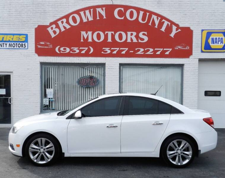 2013 Chevrolet Cruze for sale at Brown County Motors in Russellville OH