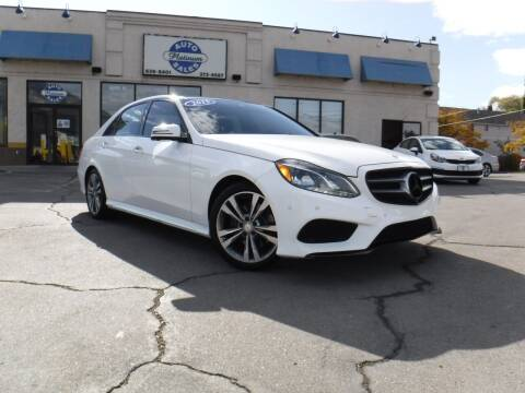 2015 Mercedes-Benz E-Class for sale at Platinum Auto Sales in Provo UT