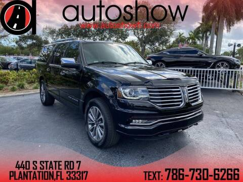 2016 Lincoln Navigator L for sale at AUTOSHOW SALES & SERVICE in Plantation FL