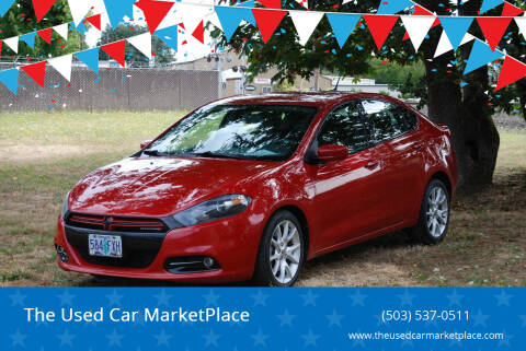 2013 Dodge Dart for sale at The Used Car MarketPlace in Newberg OR