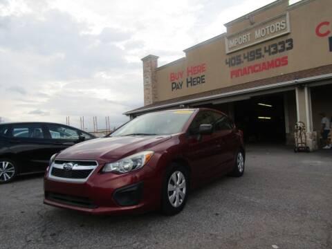 2012 Subaru Impreza for sale at Import Motors in Bethany OK