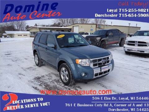 2012 Ford Escape for sale at Domine Auto Center in Loyal WI