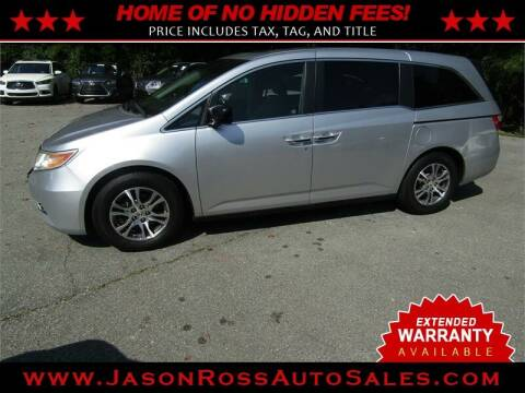 2012 Honda Odyssey for sale at Jason Ross Auto Sales in Burlington NC