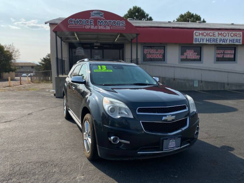 2013 Chevrolet Equinox for sale at Choice Motors of Salt Lake City in West Valley  City UT