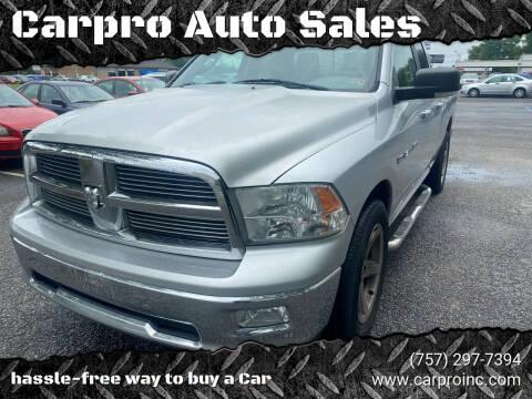 2011 RAM Ram Pickup 1500 for sale at Carpro Auto Sales in Chesapeake VA